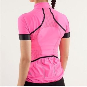 9924d41297 lululemon athletica Tops - Lululemon Paceline Cycling Jersey Rare Hot Pink!